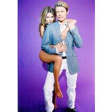 Ellen von Unwerth - Kate Moss and David Bowie IV