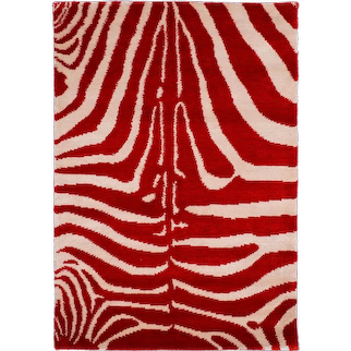 Original Design 'Zebra' Silk Rug