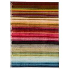 Natural Striped 'Color Spectrum' Silk Area Rug