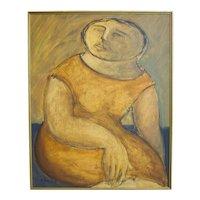 Arnaldo Miccoli Figural Oil on Panel
