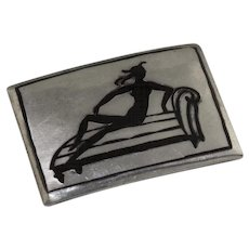 Wiener Werkstatte Sterling and Enamel Brooch Austria