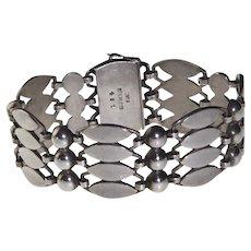 Just Andersen Sterling Silver Bracelet - Denmark - 1930's
