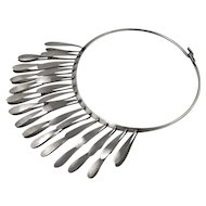 Elsa Freund Modernist Sterling Kinetic Fringe Necklace