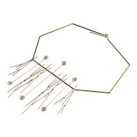 Betty Cooke 14K  Gold and Pearl Necklace