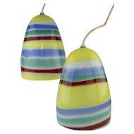 Venini Pendant Lamps Designed by Massimo Vignelli 1950's