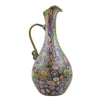 "11 5/8"" Tall Millefiori Pitcher - Murano - 1930's"