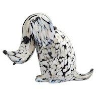 Seguso Dog Murano Italy - 1950's - Modernist