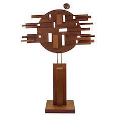 John Risely Modernist Wood Sculpture