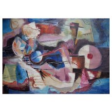 Nathan Margolis Modernist Abstract Painting