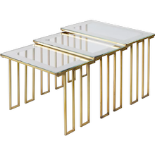 "Jean Royere set of 3 ""creneau"" or ""dent grecque"" nesting tables"