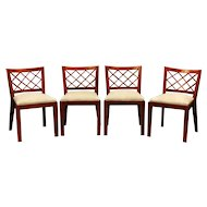 """Jean Royere set of 4 """"croisillons"""" chairs"""