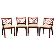 "Jean Royere set of 4 ""croisillons"" chairs"