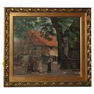 JohannWenzel  Painting  Oil on canva : Motiv aus Danzig (Gdansk Reason) (1896)