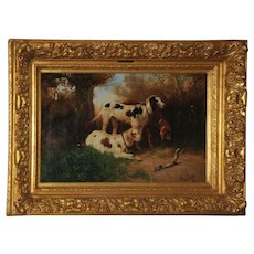 Hunting Dogs in a Landscape