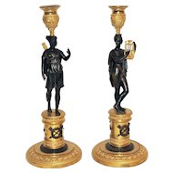 19th Century Candlelstick  in bronze Empire