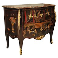 Lacquer Chinoiserie Decorated Commode