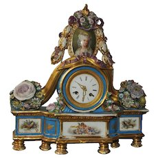 18th Century-style Porcelain Clock