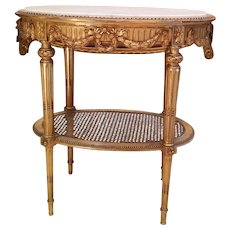 19th Century French Side Table giltwood