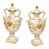 19th Century pair of Vases in porcelain signed