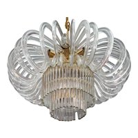 Huge Bakalowits Crystal Glass Chandelier, Vienna, 1960