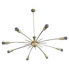 Italian Sputnik Chandelier Designed Stilnovo, Italy, 1950