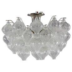 Crystal Glass Chandelier Tulipan Designed J.T. Kalmar, Austria