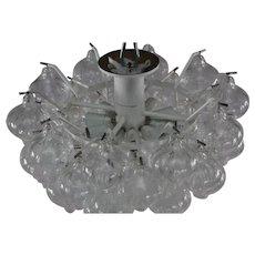 Pair of Crystal Glass Chandelier Tulipan Designed J.T.Kalmar, Austria