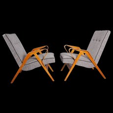 Pair of Armchairs in the Manner of Roland Rainer 1950