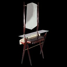 1950's Italian Hall Console with Mirror attributed to Ico Parisi
