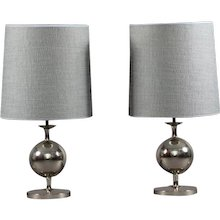 Pair of Space Age Table Lamps Staff Leuchten Germany 1970