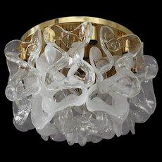 Ceiling Crystal Glass Flush Mount by J. T. Kalmar, Austria, 1970