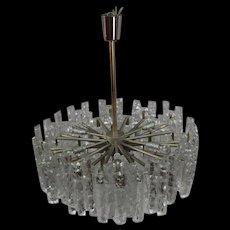 Tiered Glass Chandelier by J.T. Kalmar for Kalmar, 1972