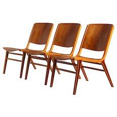 Three AX Chair by Peter Hvidt & Orla Mølgaard Nielsen