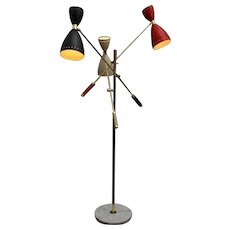 8 images Edit Images Italian Floor Lamp in the Manner of Stilnovo with Movable Arms
