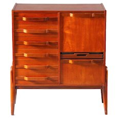 Freestanding Chest of Drawer-Gianfranco Frattini-Italian 1950-Teak Wood