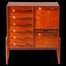 Freestanding Chest of Drawer-Gianfranco Frattini-Italian 1950-Teak Wood