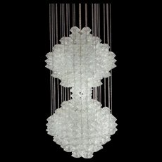 Rare J. T. Kalmar Chrystal Glass Chandelier Model Pagoda-Vienna, 1960