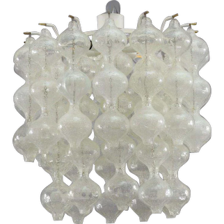 modell Tulipan ceiling flush mount by J.T.Kalmar Vienna 1960