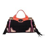 Gucci Black Suede Tassel Fringe Tote Handbag