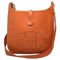Hermes Natural Tan Epsom Leather Evelyn I PM Shoulder Bag
