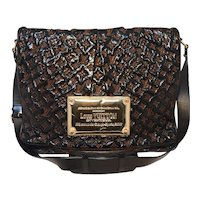 Louis Vuitton Patent Leather Embossed Logo XL Messenger Bag