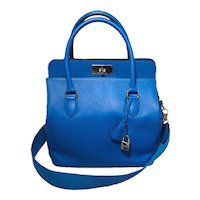 Hermes 26cm Toolbox Bag Hydra Blue Swift Calf Leather