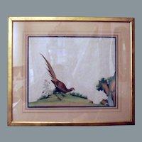 Pair of Chinese Bird Paintings