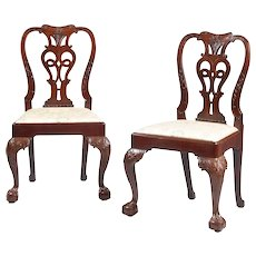 Set of Eight George II Dining Chairs