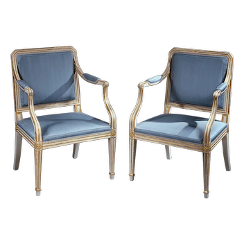 Pair of Painted Armchairs