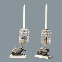 Regency Greyhound Candlesticks