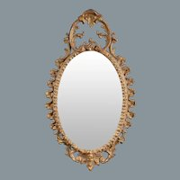 Neoclassical Oval Mirror