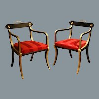 A Pair of Regency Armchairs