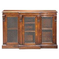Rosewood Breakfront Cabinet