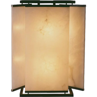 Pierre Chareau reedition Chinese sconce & lamp